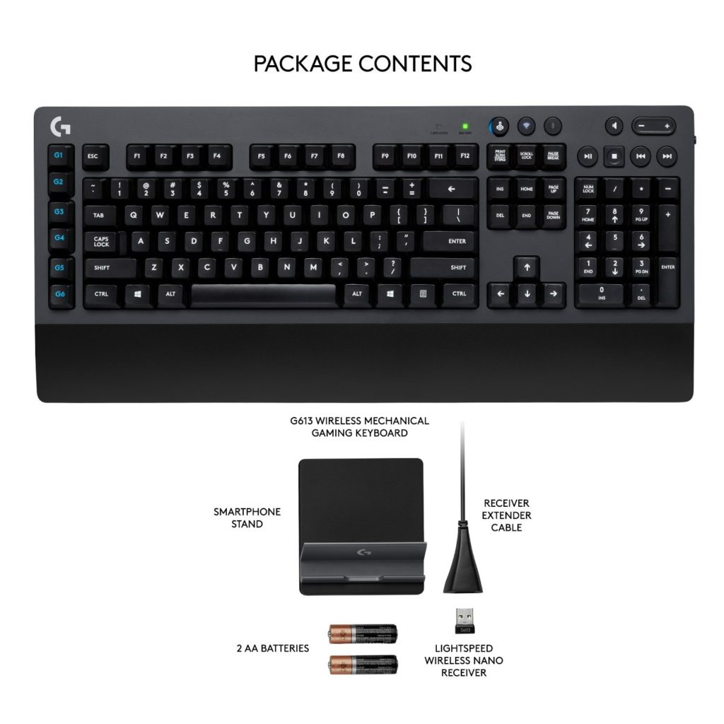 What's included in the Logitech G613 package